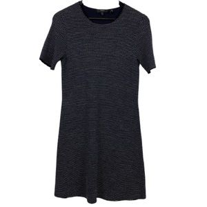 Theory Lakelyn Wool Blend Sweater Dress in Navy